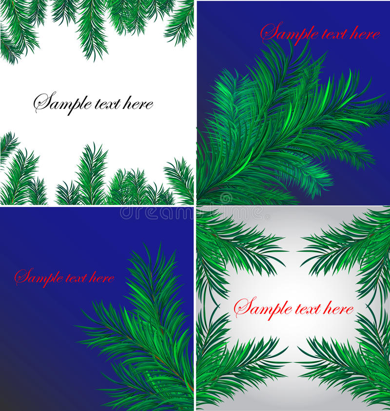 Download Four christmas backgrounds stock vector. Illustration of frame - 10949927