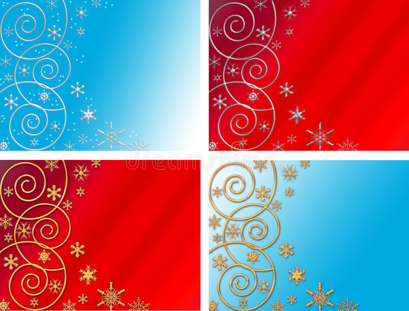Download Four christmas backgrounds stock illustration. Image of card - 3662688