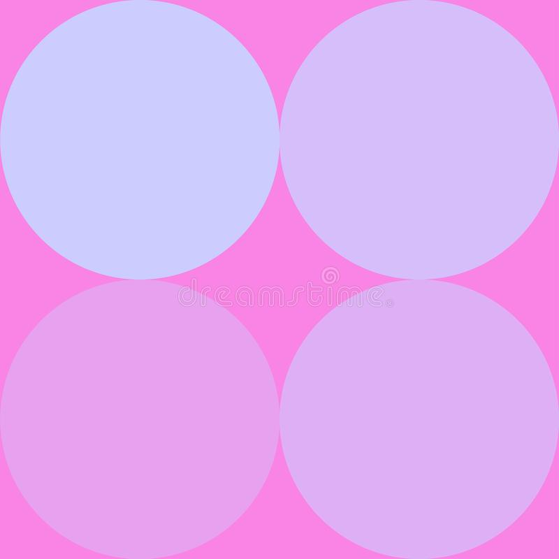 Four circles on a pink background. This pattern can be use for tiles, floors, furnitures and many more royalty free illustration