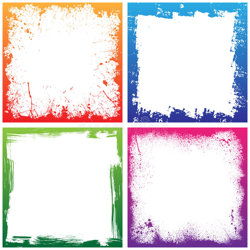 Four color frames stock vector. Illustration of placard - 56769354