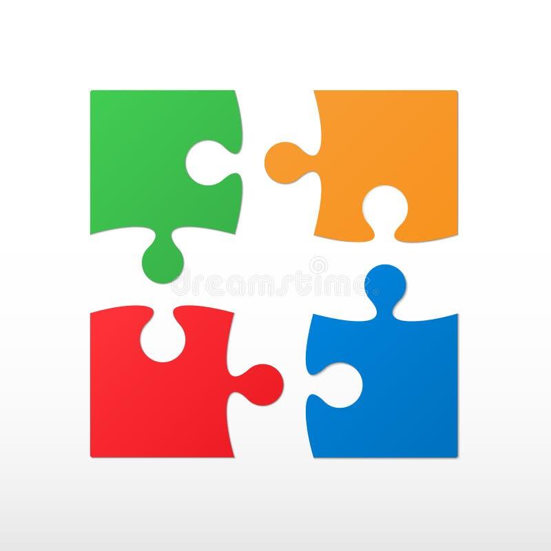 four color piece jigsaw puzzle stock vector illustration of rh dreamstime com puzzle vector files free puzzle vector files free
