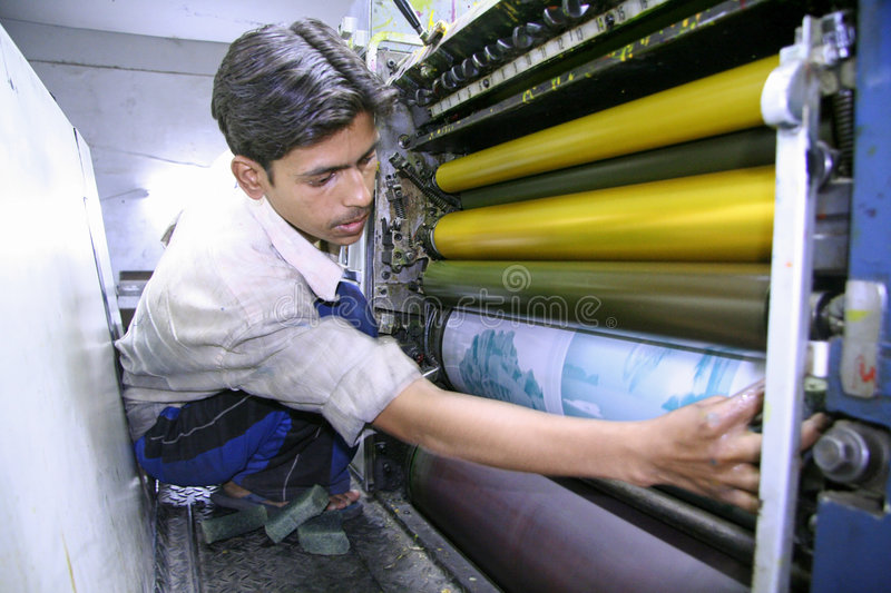 Four color printing process royalty free stock image