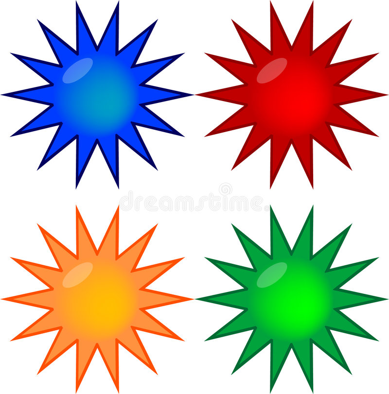 Download Four Colored Gel Prize Buttons Stock Illustration - Image: 5012768