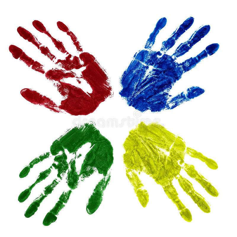 Free Four Colored Hands Royalty Free Stock Photography - 18198267