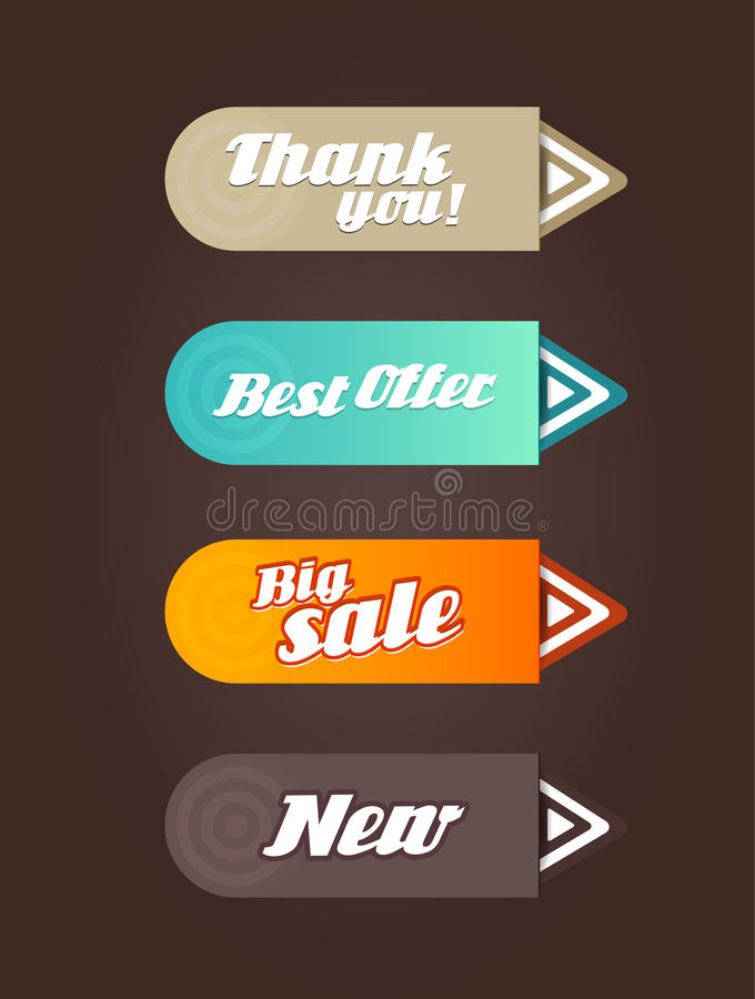 Download Four Colored Paper Arrows With General Text. Stock Images - Image: 31395804