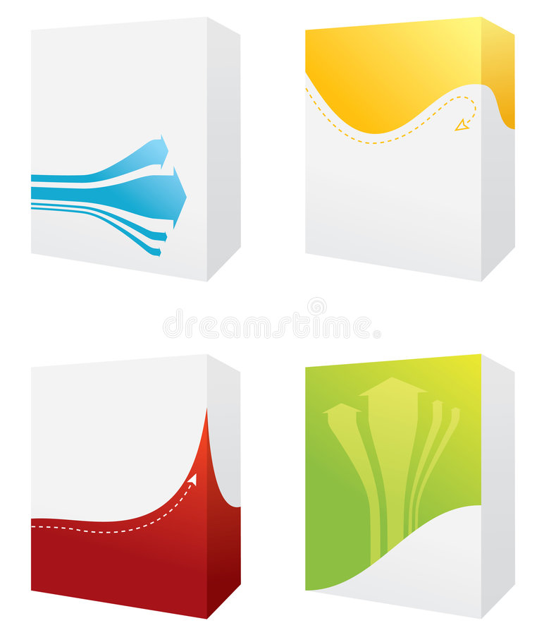 Four colorful boxes royalty free illustration