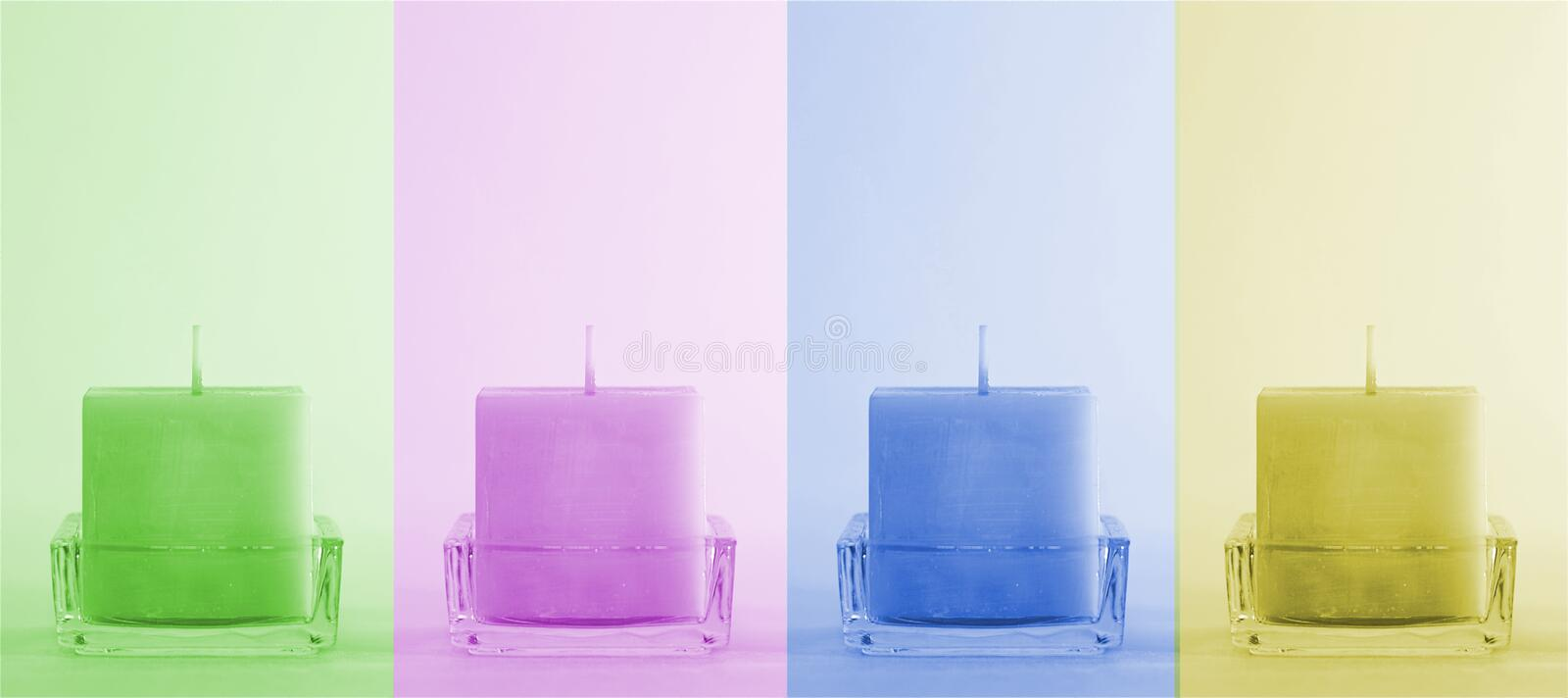 Download Four Colorful Candles Stock Photos - Image: 24670023
