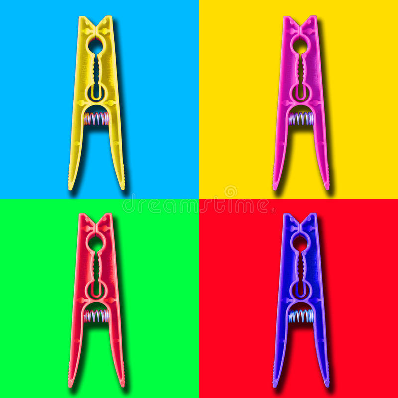 Download Four Colorful Psycho Clothespin Royalty Free Stock Photo - Image: 37521275
