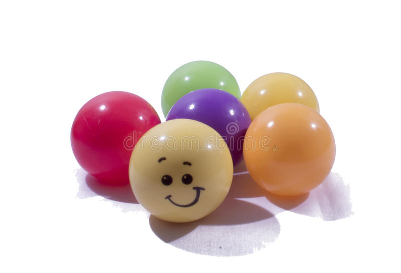 This are four colors balls. stock photography