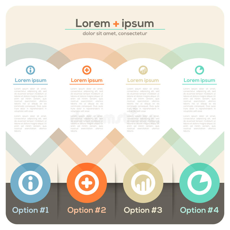 Four Columns Abstract Design Layout vector illustration