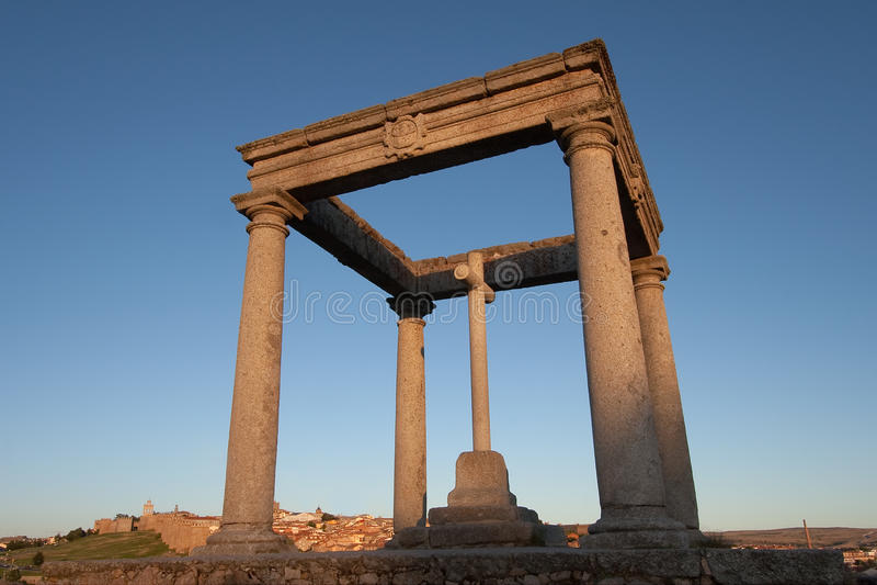 Download The four columns, Avila stock image. Image of patrimony - 29054689