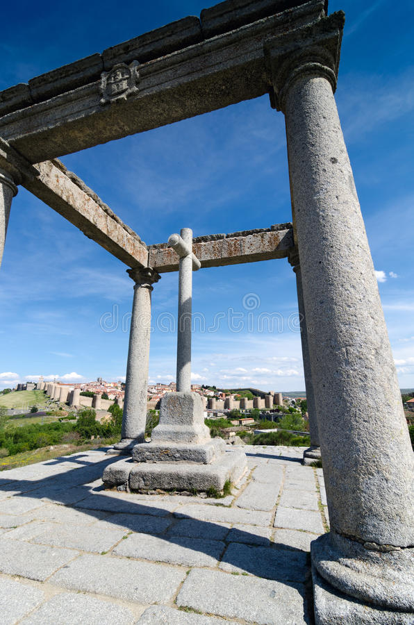 The Four Columns, Avila Stock Photography
