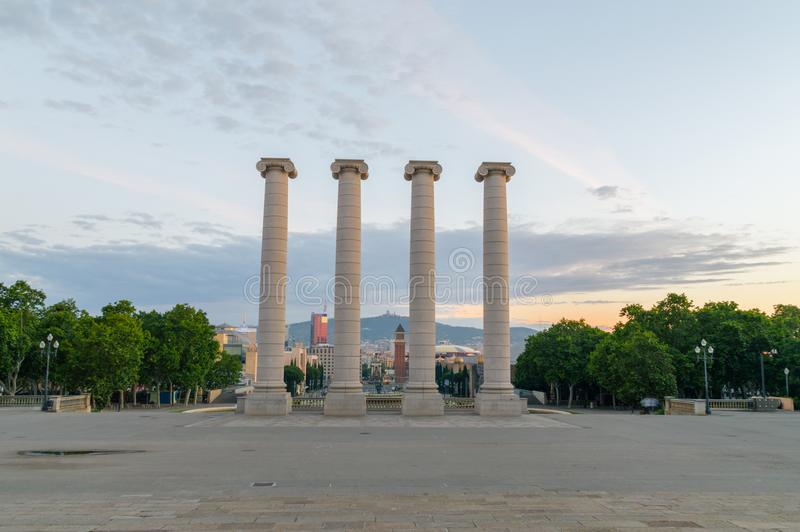 The Four Columns at sunrise time. royalty free stock photos