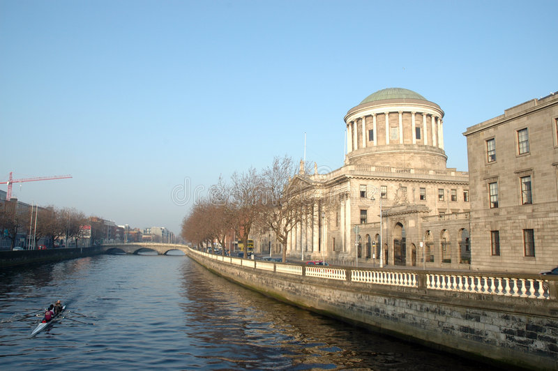 Four Courts. The Four Courts in Dublin are the Republic of Ireland's main courts building. The Four Courts are the location of the Supreme Court, High Court, and stock images