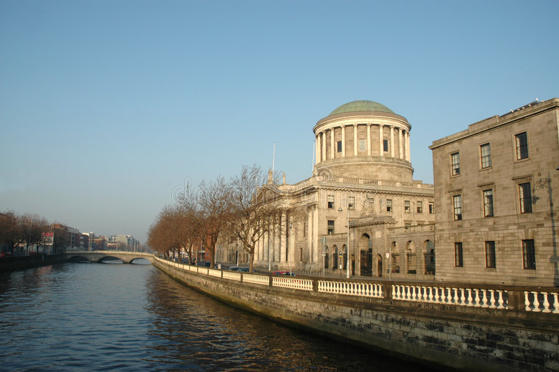 Four Courts. The Four Courts in Dublin are the Republic of Ireland's main courts building. The Four Courts are the location of the Supreme Court, High Court, and stock photos