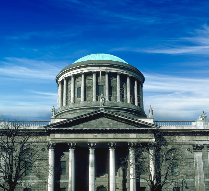 The Four Courts, Dublin stock image