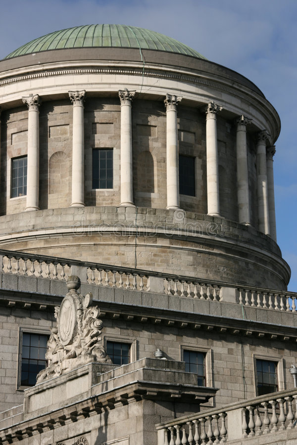 Four Courts in Dublin. Four Courts building in Dublin - famous Irish landmark royalty free stock images