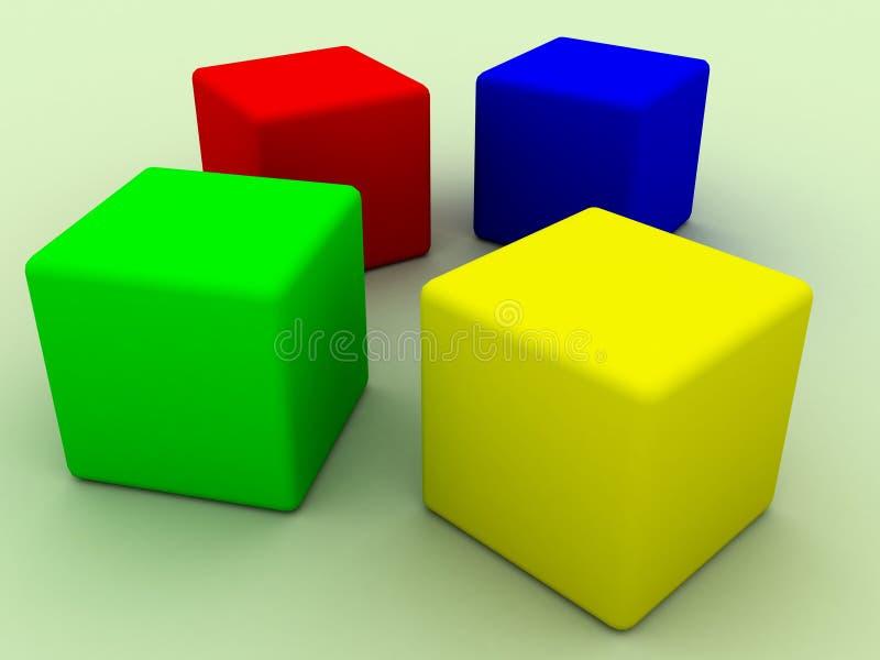 Download Four cubes stock illustration. Illustration of logic, cubes - 9928146