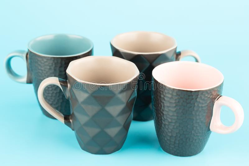 Four cups royalty free stock images