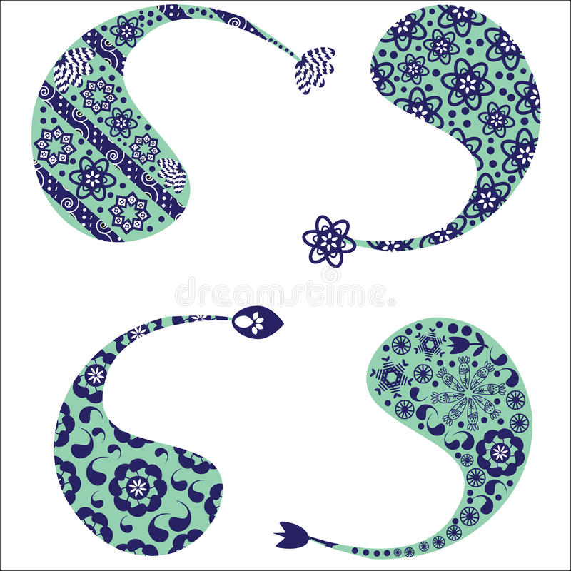 Download Four Cute  Pattern Of Turkish Cucumber(Paisley Pat Stock Vector - Illustration of cucumber, blue: 33519129