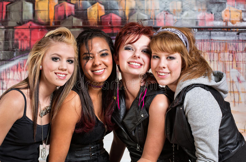 Download Four Cute Teens stock image. Image of happy, fresh, beautiful - 32439149