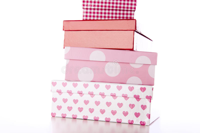 Download Four Decorative Boxes stock image. Image of giving, decoration - 14565033