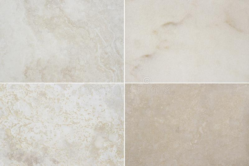 Four different beautiful high quality marble. Marble background with natural pattern stock photography