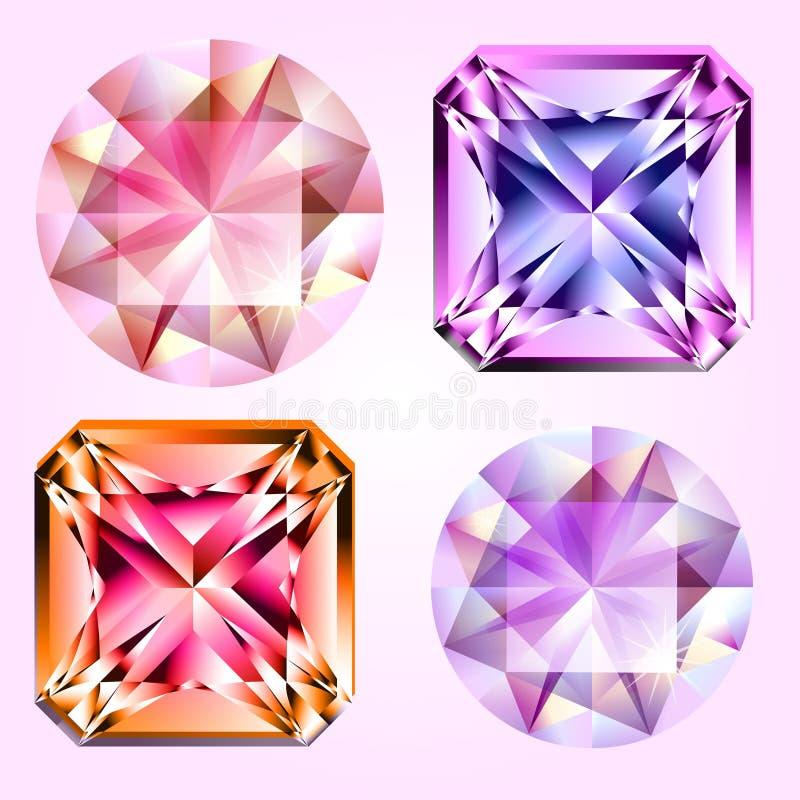 Four gems royalty free illustration