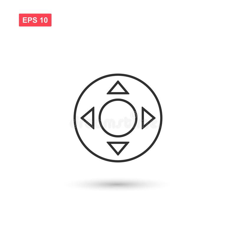 Four direction arrows control buttons isolated royalty free illustration