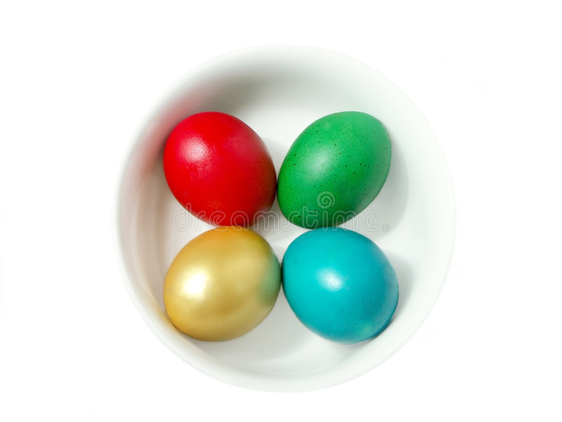 Download Four Easter Eggs In Bowl Stock Images - Image: 1723924