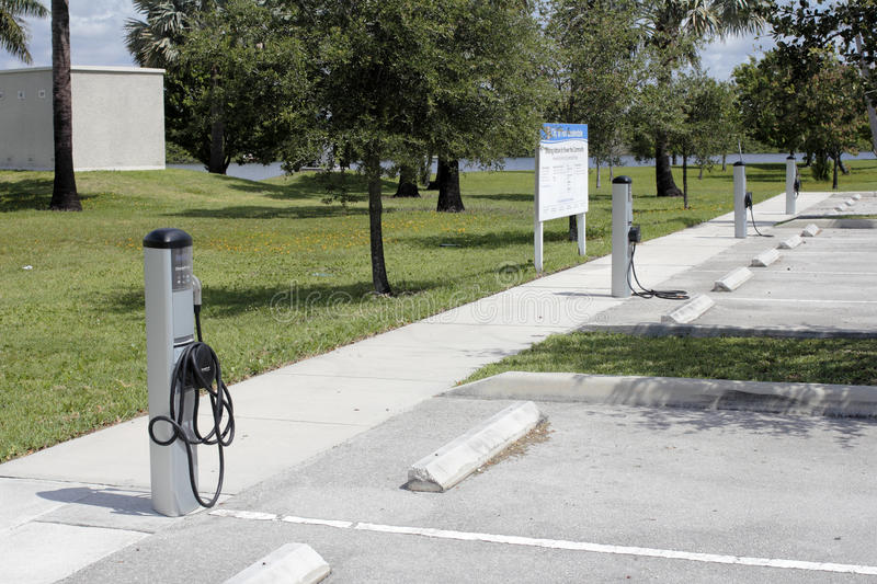 Download Four Electric Vehicle Charging Stations Editorial Photography - Image: 93883612