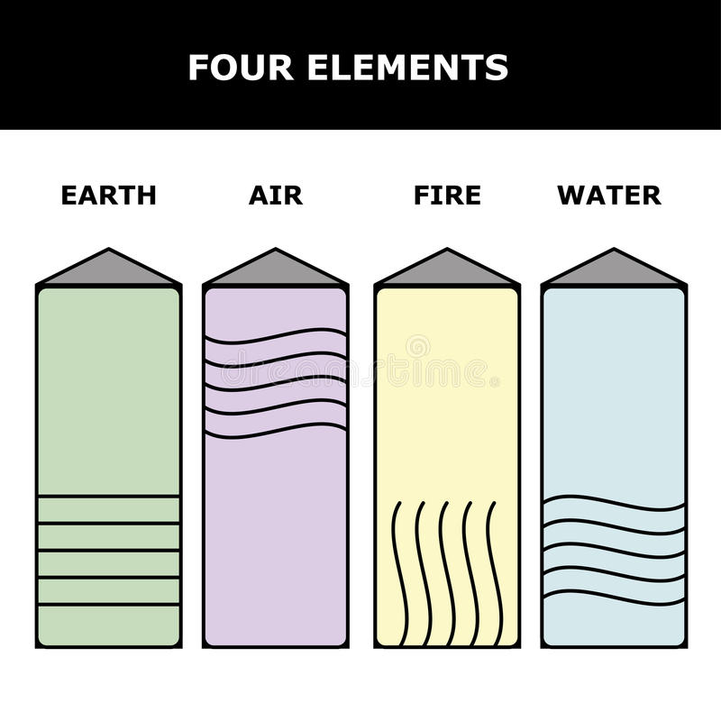 Four Element Stone Stock Vector Illustration Of Illustration 90321997