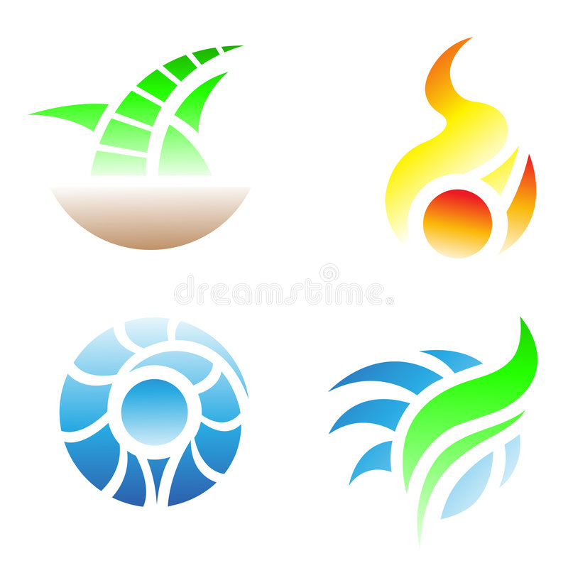Download Four elements stock vector. Illustration of circle, beautiful - 7940342