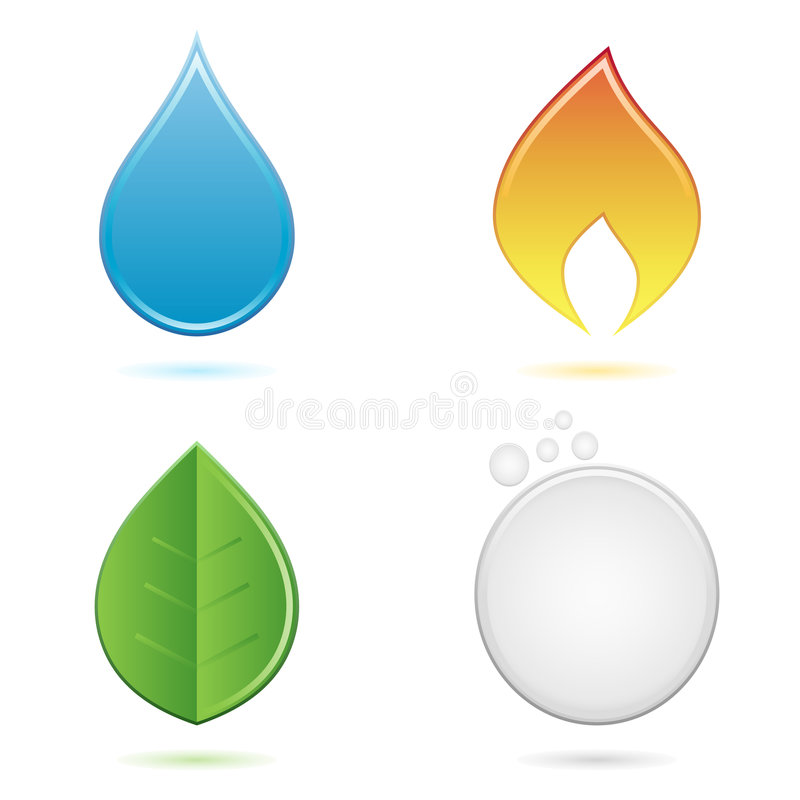 The four elements stock illustration