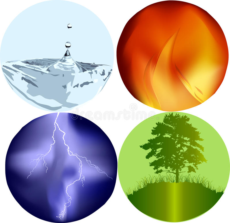 Four Elements Icons Royalty Free Stock Image