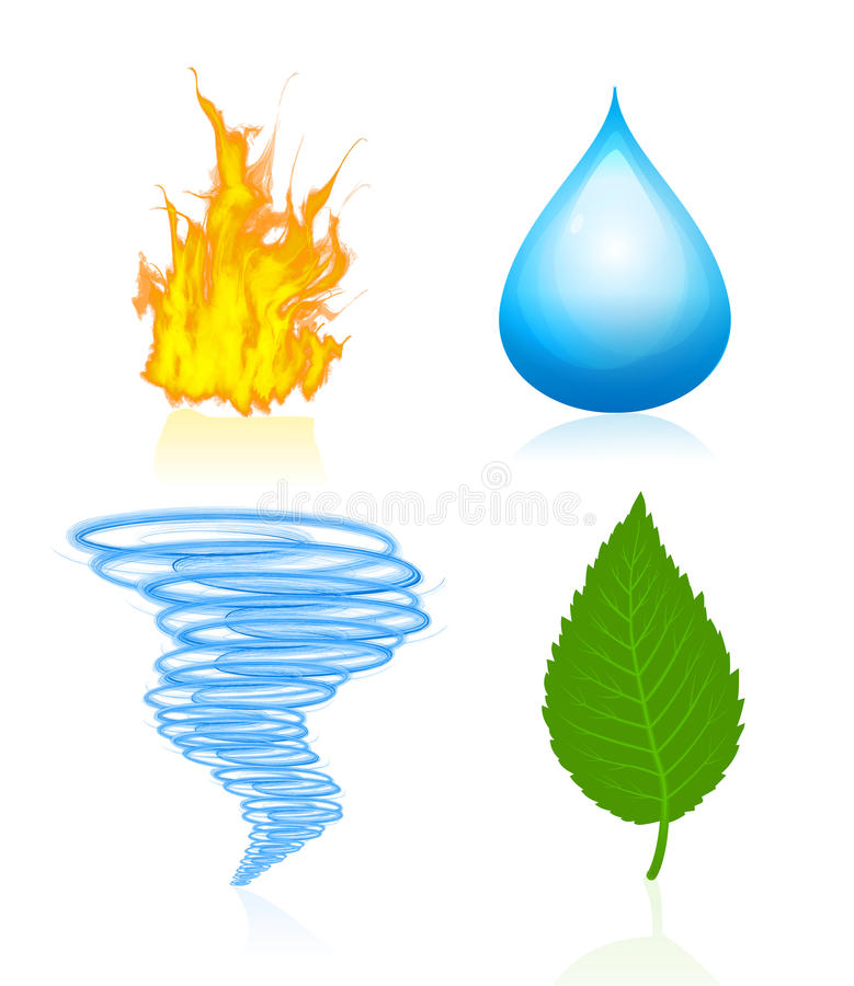 Four elements of nature royalty free illustration