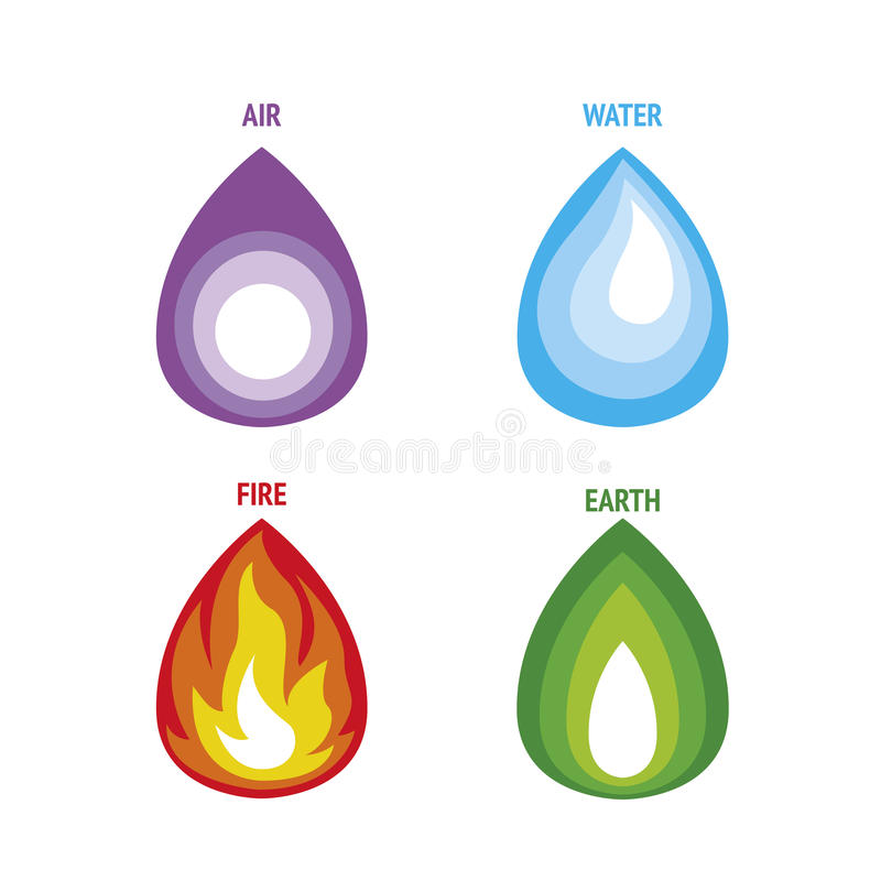 Four Elements Nature Stock Vector Illustration Of Four 90321861