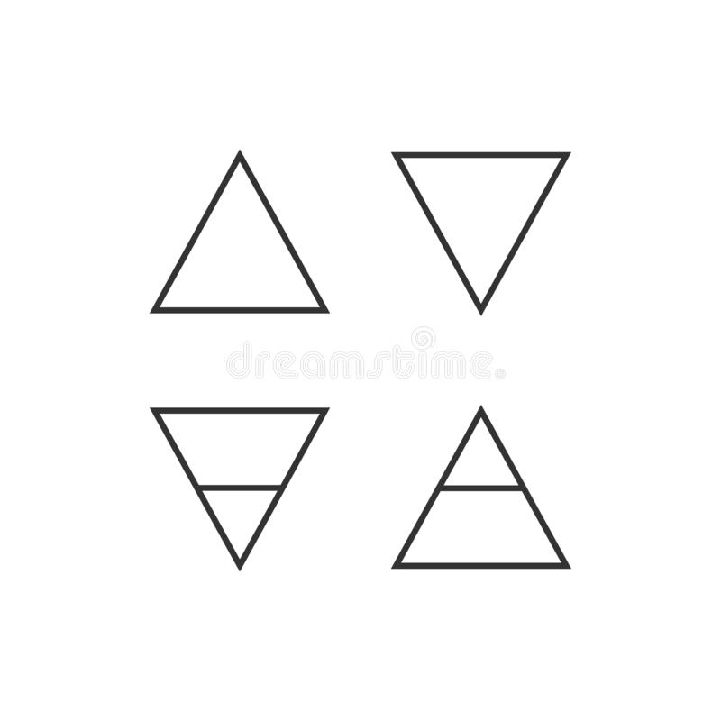 Four elements symbol icon. Vector illustration, flat design vector illustration