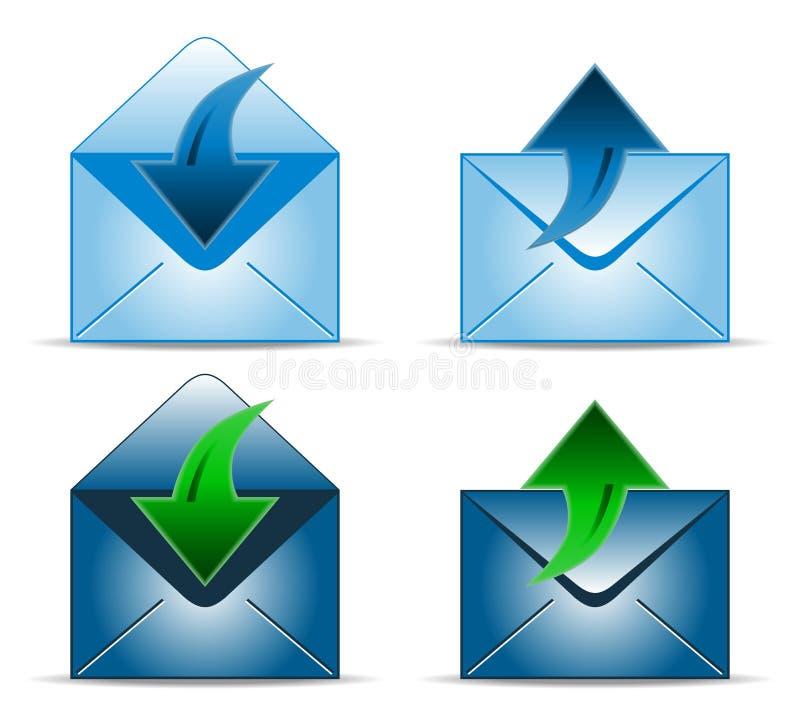 Four envelope icons