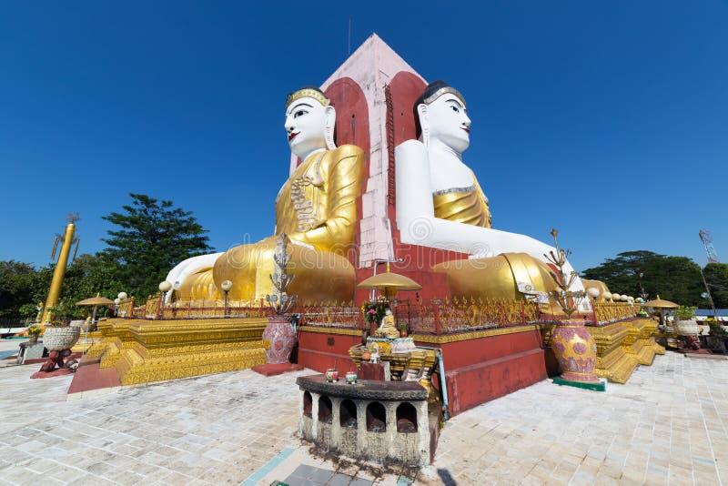 Four Faces of Buddha, Kyaikpun Buddha, Bago, Myanmar. Four Faces of Buddha at Kyaikpun Buddha, in Bago, Myanmar stock photos