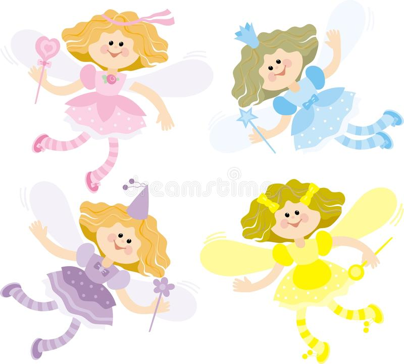 Download Four fairies stock vector. Image of blue, illustration - 19331226