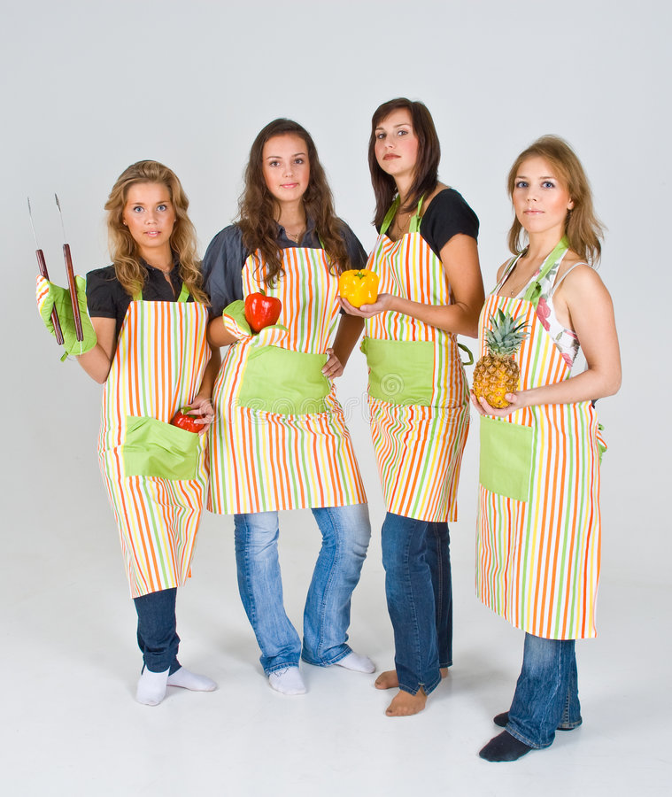 Free Four Female Cooks Stock Image - 4931441