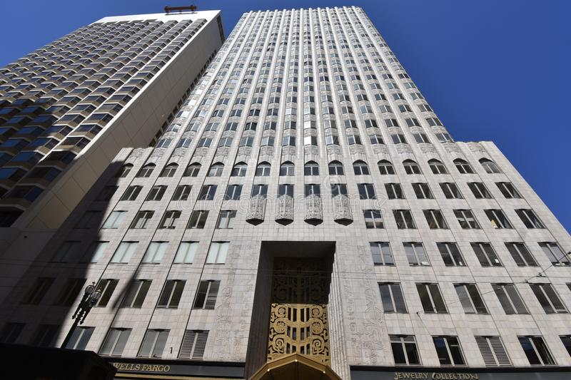The 450 Sutter Street Medical-Dental Building, 1. The 1929 Four Fifty Sutter Street Medical-Dental Building is a 26 floor Art Deco style of Neo-Mayan Classical stock photo