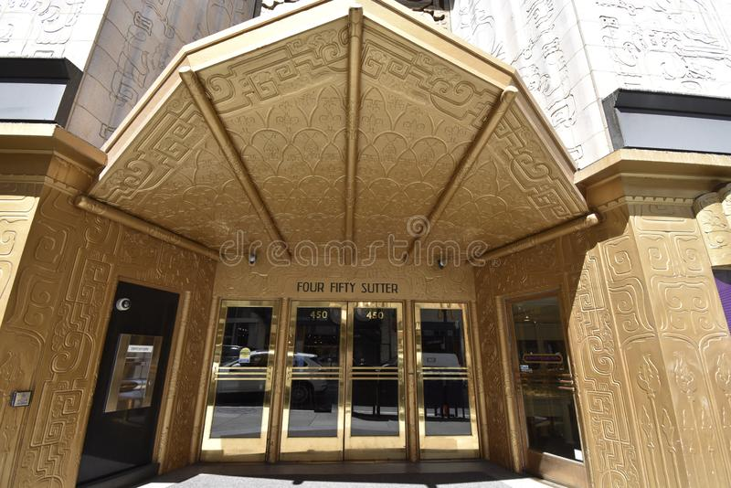 The 450 Sutter Street Medical-Dental Building, 2. The 1929 Four Fifty Sutter Street Medical-Dental Building is a 26 floor Art Deco style of Neo-Mayan Classical royalty free stock photo