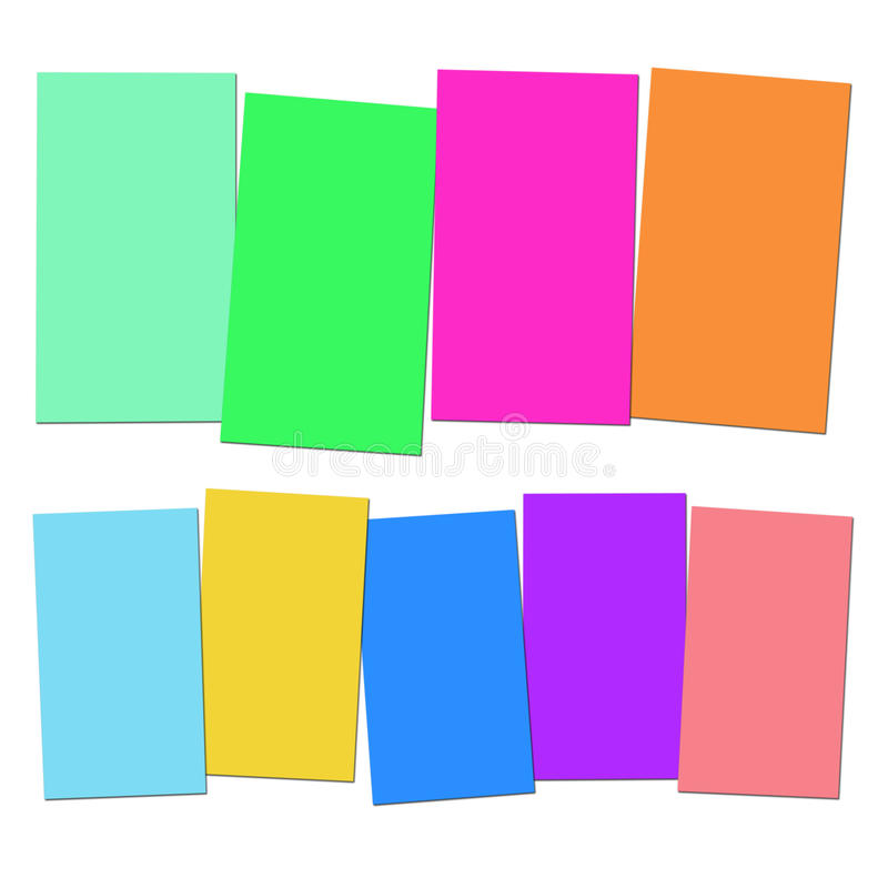 Four And Five Blank Paper Slips Show Copyspace. Four And Five Blank Paper Slips Showing Copyspace For 4 Or 5 Letter Words royalty free illustration