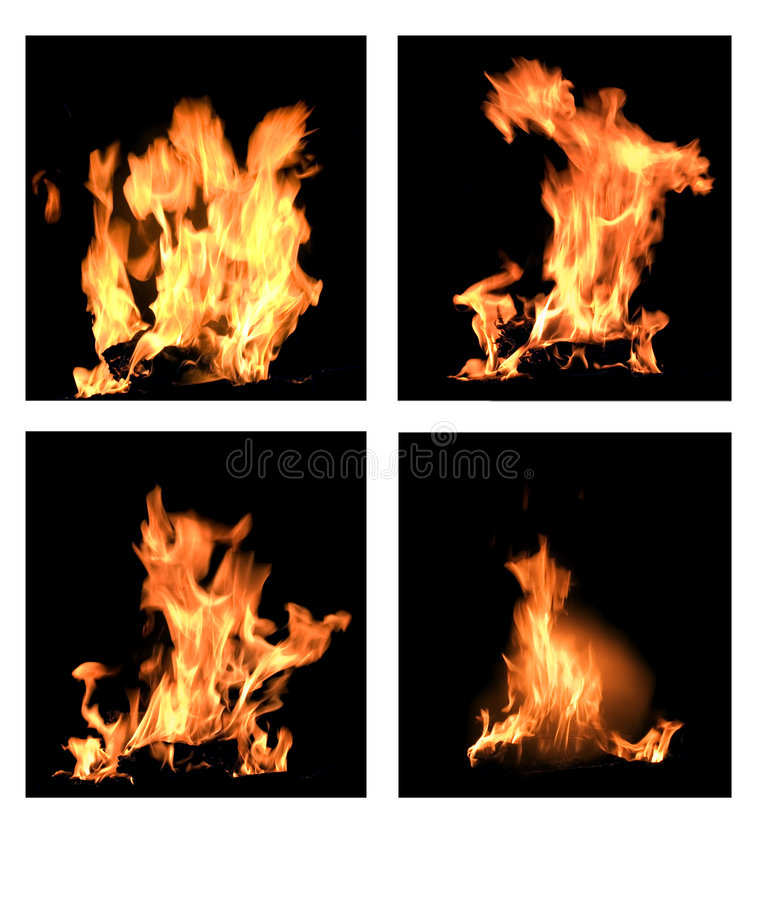 Free Four Flames Royalty Free Stock Images - 2273819