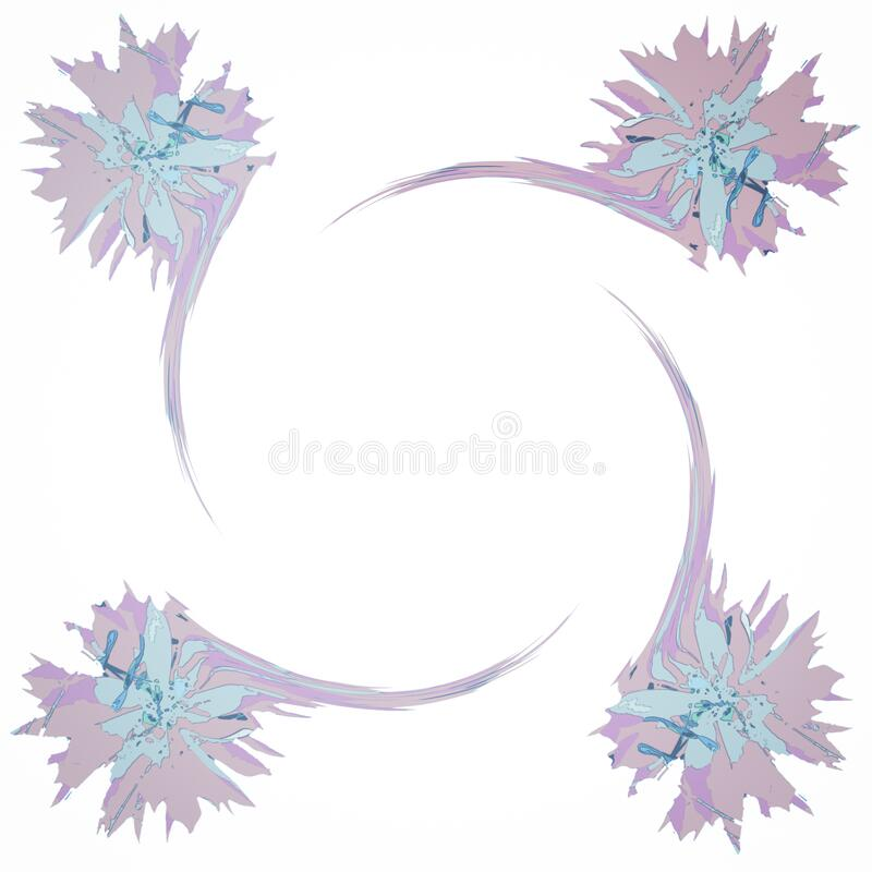 Four Flower White Note or Letter Paper Abstract Background vector illustration