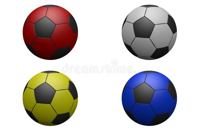 Four Footballs stock illustration