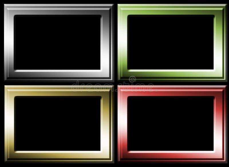 Four frames stock illustration. Illustration of luminous - 10257259