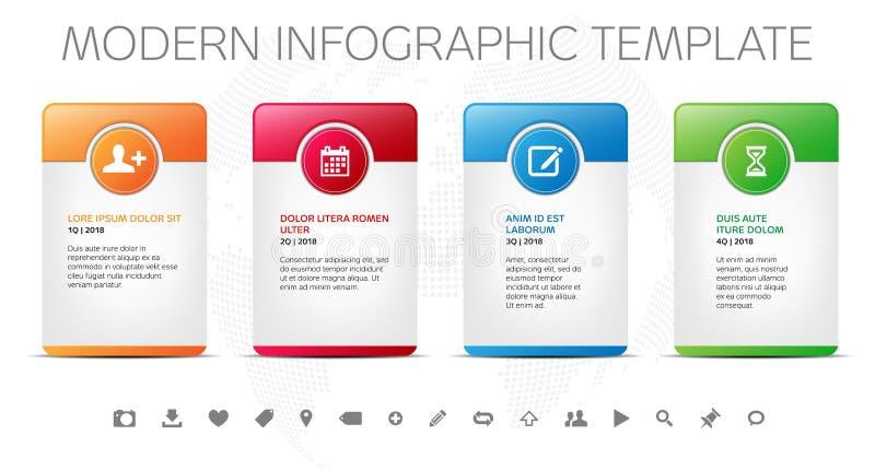 Four frames - modern design template for infographics vector illustration